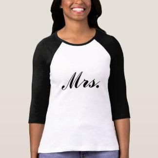 Señora Raglan T-shirt del recién casado Camiseta