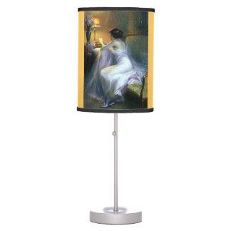 Señora Reading por la pintura de la lámpara