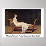 Señora Recamier-Portrait.By Jacques-Louis David Impresiones