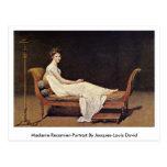 Señora Recamier-Portrait.By Jacques-Louis David Tarjetas Postales