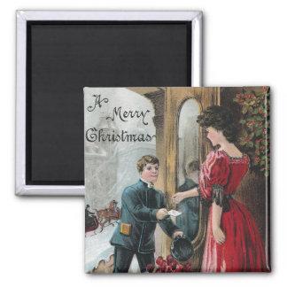 Señora Receives Christmas Delivery Iman Para Frigorífico