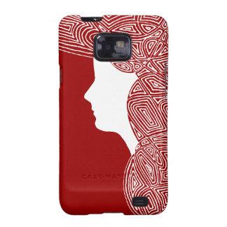 Señora Red Galaxy SII Carcasa
