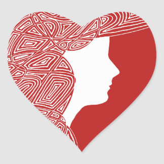 Señora Red Heart Stickers Colcomanias Corazon