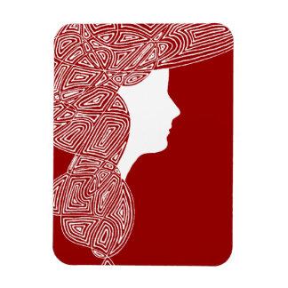 Señora Red Imán Rectangular