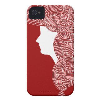 Señora Red iPhone 4 Case-Mate Cobertura