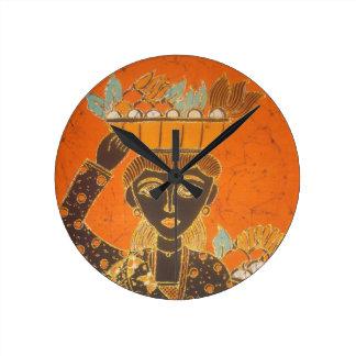 Señora retra linda Portrait jpg del vintage de Van Relojes De Pared