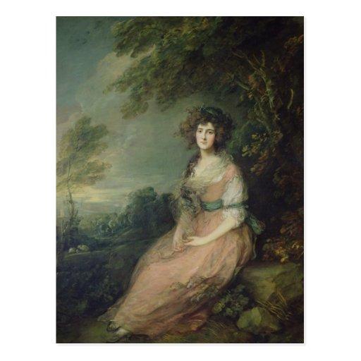 Señora Richard Brinsley Sheridan, c.1785-87 Tarjeta Postal