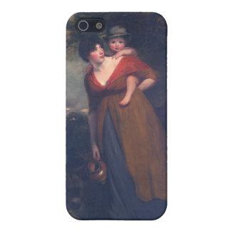 Señora Richard Brinsley Sheridan y su hijo Hoppne iPhone 5 Funda