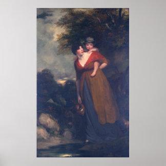 Señora Richard Brinsley Sheridan y su hijo, Hoppne Impresiones