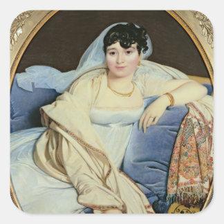 Señora Riviere Marie nee Francoise Jacquette Pegatina Cuadrada