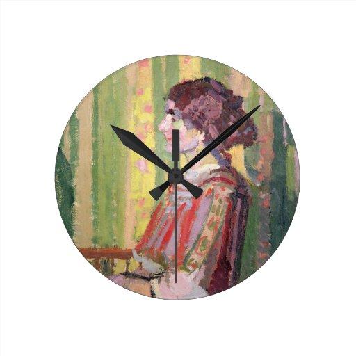 Señora Roberto Bevan, c.1913 (aceite en lona) Reloj Redondo Mediano