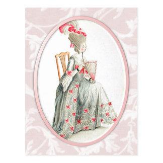 Señora rococó tarjetas postales