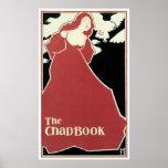 """Señora roja, arte Nouveau """"del Grieta-Book"""" Impresiones"""