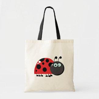 Señora roja brillante Bug Bolsas De Mano