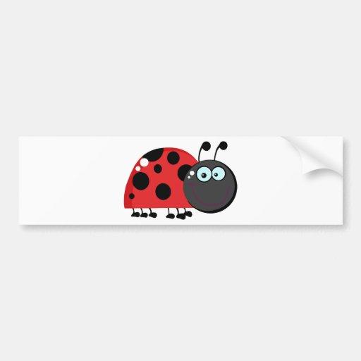 Señora roja brillante Bug Pegatina De Parachoque