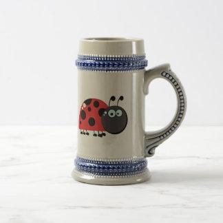 Señora roja brillante Bug Taza De Café