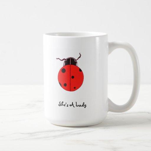 Señora roja Bug Statement Mug Taza