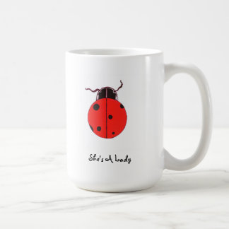 Señora roja Bug Statement Mug Taza Clásica