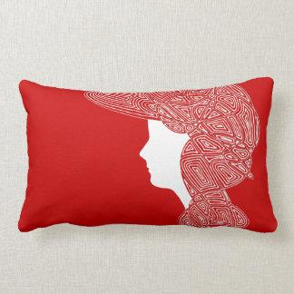 Señora roja cojín lumbar