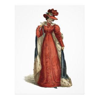 Señora roja de la regencia membrete personalizado