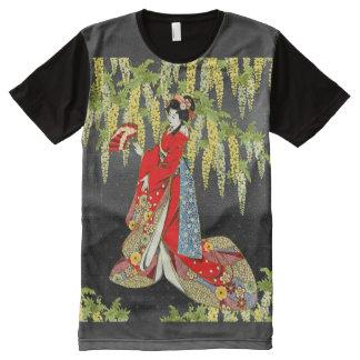 Señora roja del kimono