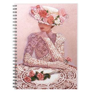 Señora romántica del Victorian Cuaderno