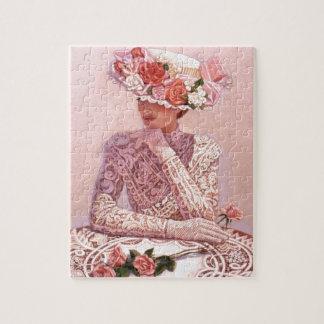 Señora romántica del Victorian Puzzle
