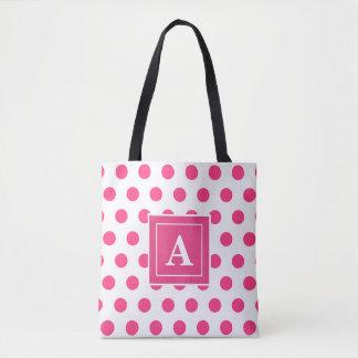 Señora rosada bolsa de tela