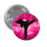 Señora rosada Button del relámpago Pin