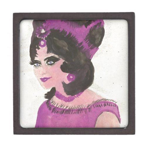 Señora rosada cajas de joyas de calidad