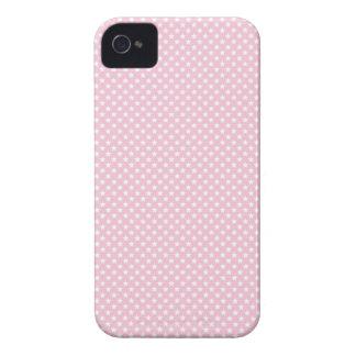 Señora rosada colección - estrellas del blanco iPhone 4 Case-Mate carcasa