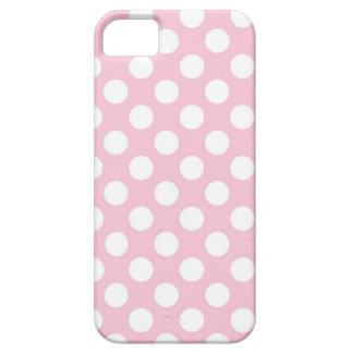 Señora rosada colección - puntos blancos grandes iPhone 5 Case-Mate protectores