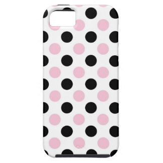 Señora rosada colección - puntos negros rosados iPhone 5 Case-Mate fundas