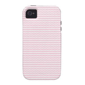 Señora rosada colección - rayas horizontales Case-Mate iPhone 4 fundas