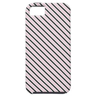 Señora rosada colección - rayas negras rosadas dia iPhone 5 fundas