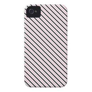 Señora rosada colección - rayas negras rosadas dia iPhone 4 protector