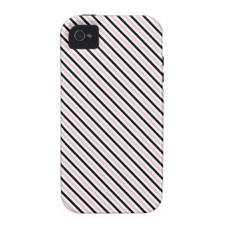 Señora rosada colección - rayas negras rosadas dia iPhone 4/4S funda