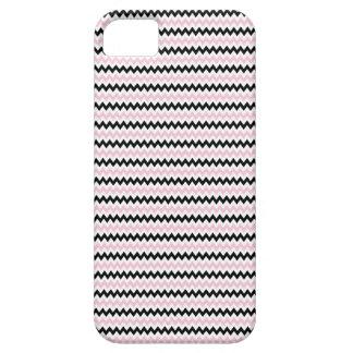Señora rosada colección - rayas rosadas negras iPhone 5 carcasas