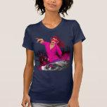 Señora rosada fabulosa DJ Camiseta