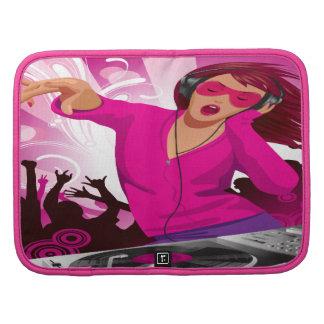 Señora rosada fabulosa DJ Planificador