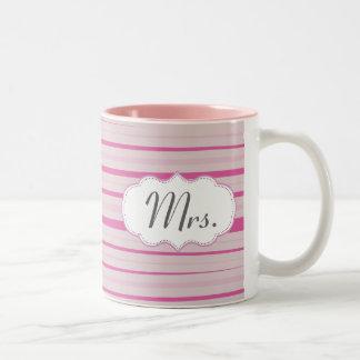 Señora rosada Mug - Sr. y señora tazas fijadas