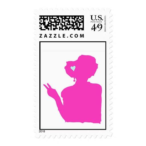 Señora rosada sello