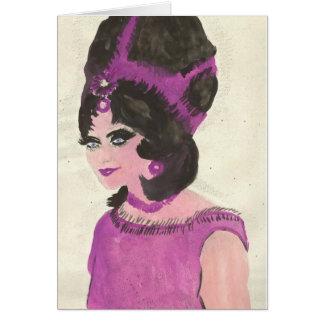 Señora rosada tarjeta de felicitación