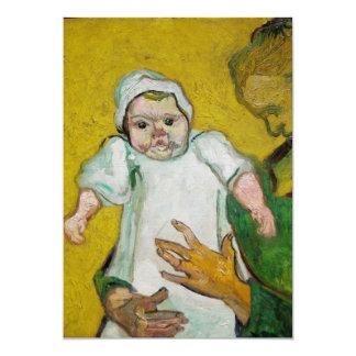 Señora Roulin con el bebé de Vincent van Gogh Invitación 12,7 X 17,8 Cm