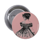 Señora Round Button del Victorian Pins