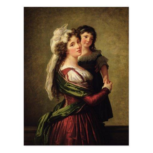 Señora Rousseau y su hija, 1789 Postales