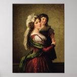 Señora Rousseau y su hija, 1789 Póster