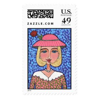Señora rubia de lujo - sello