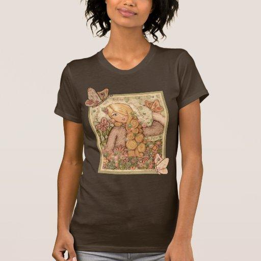 Señora rubia T-Shirt de la belleza y del amor Camisetas