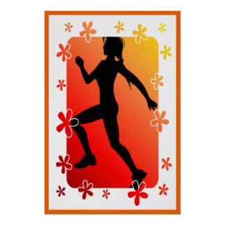 Señora Runner Floral Poster